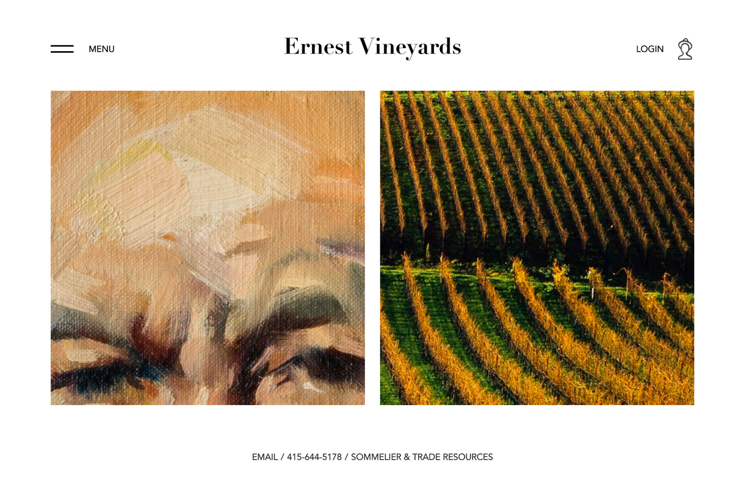 Ernest Vineyards - Front End Development