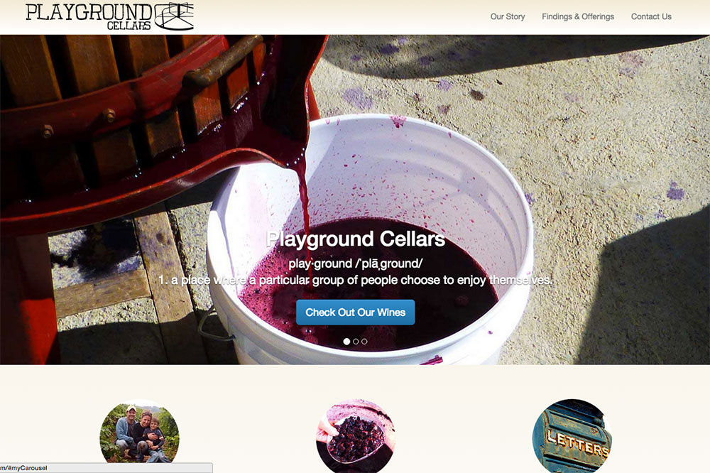 Playground Cellars -  Design, Build & Wordpress Theme