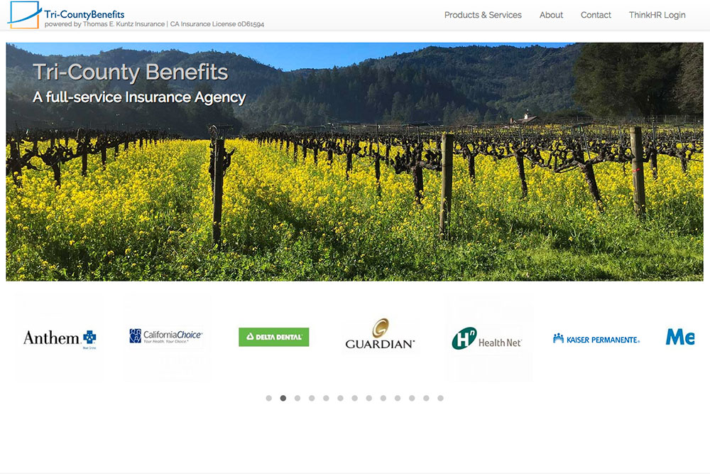 Tri-County Benefits -  Design, Build & Wordpress Theme